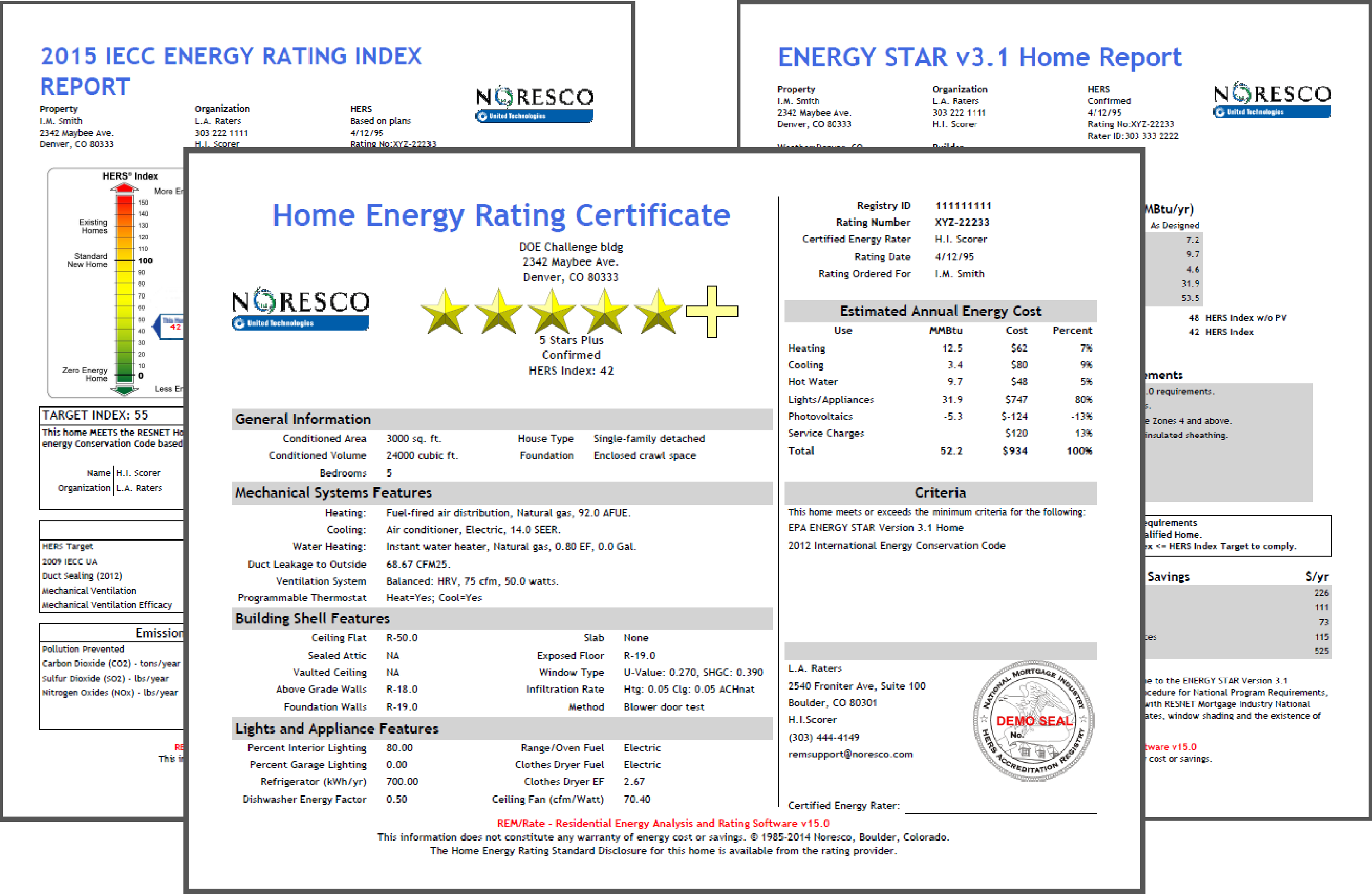 DOE, ENERGY STAR<sup>&reg;</sup> and HERS Reports
